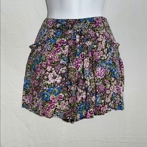 EUC - Free People Floral Soft Shorts